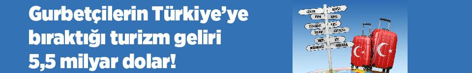 Gurbetçilerin Türkiye'ye bıraktığı turizm geliri 5,5 milyar dolar!