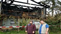Wolfurt'da Türk ailenin evi kül oldu.